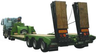 重機運搬セミトレーラー