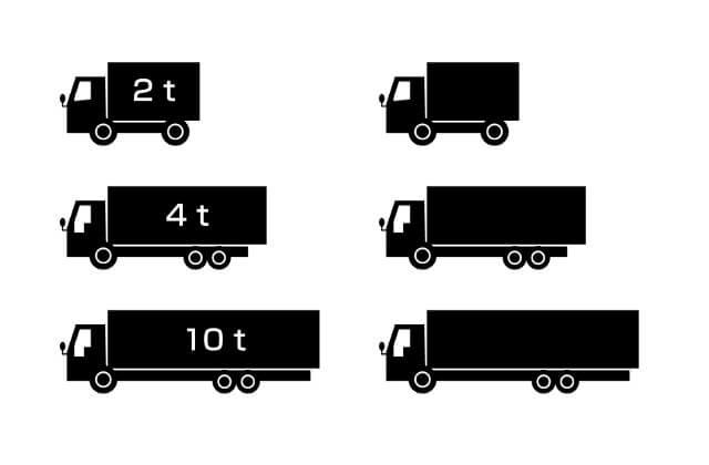 トラックの大きさで異なる車両区分とは?