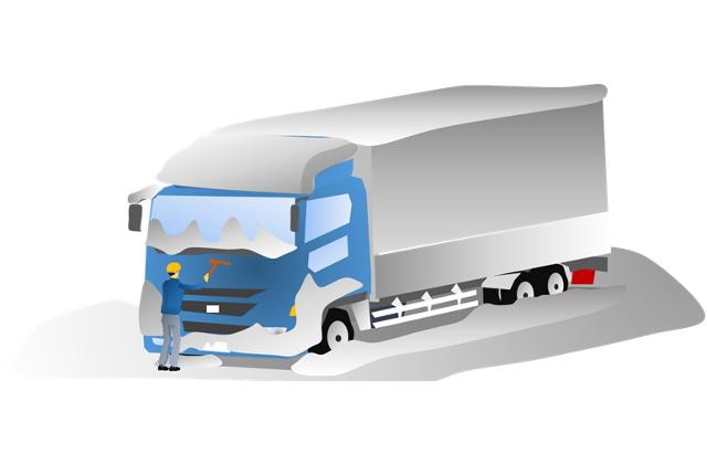 冬場にはトラック始動時から危険が潜んでいる