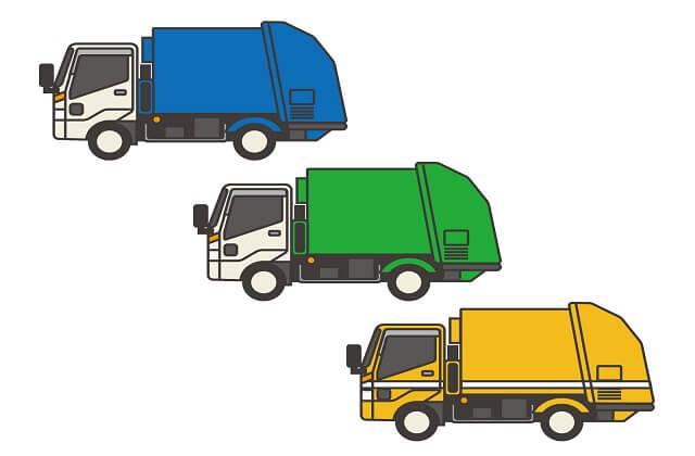小型~大型までの各車両区分のパッカー車が存在する