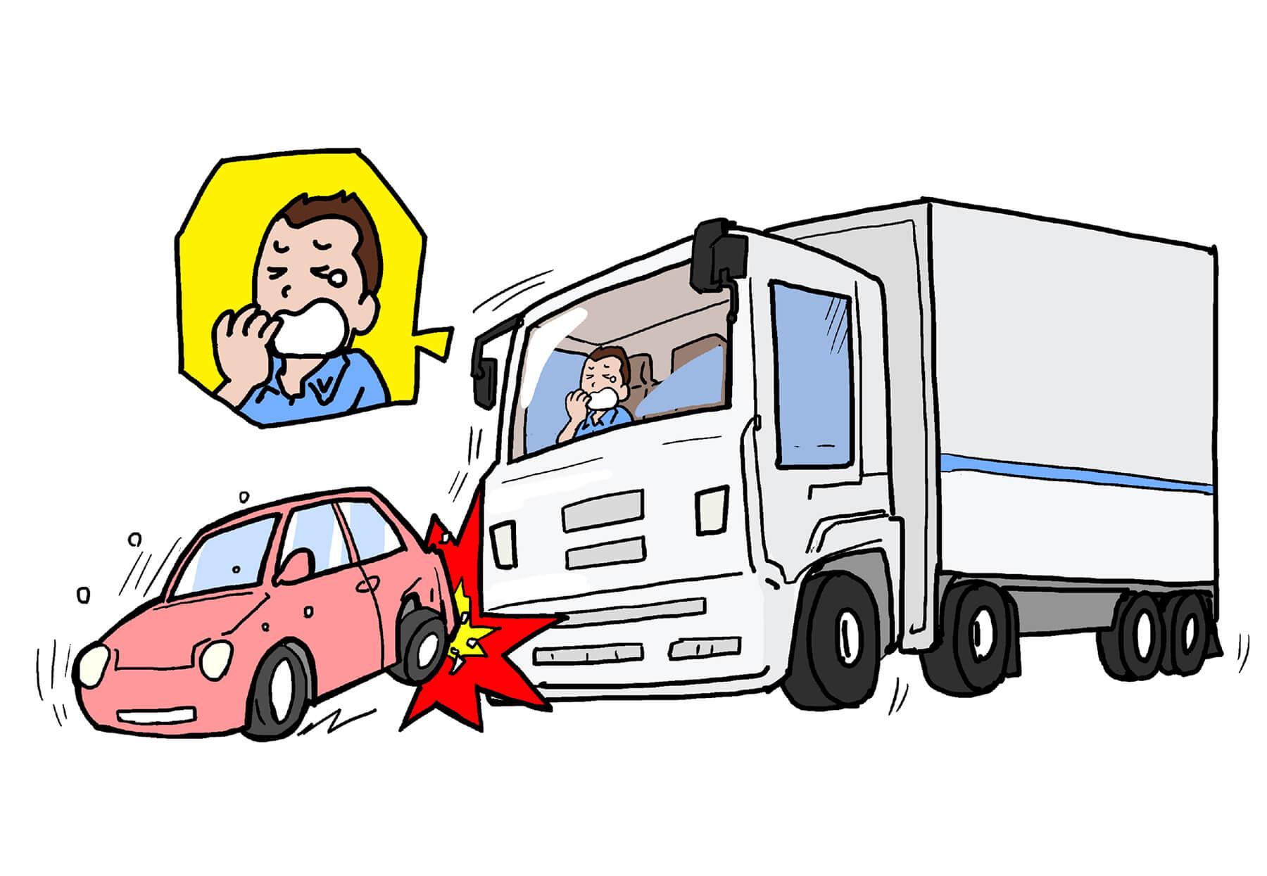 事故発生率は低いものの死亡事故発生率が高くなる夜間走行