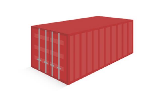 コンテナ輸送に用いられるコンテナは積載物で使い分けられる