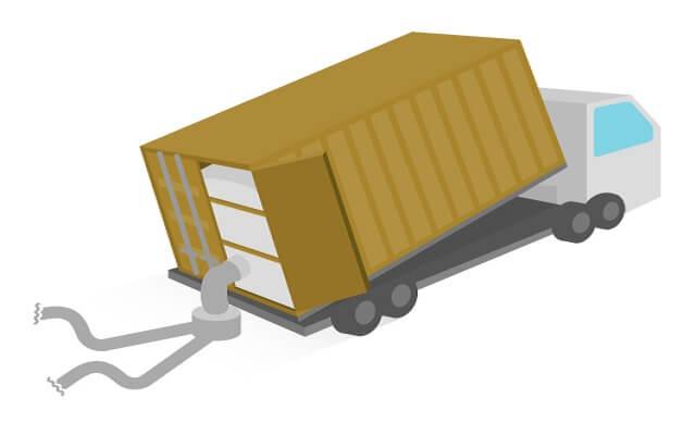 バルクコンテナ:粉体のコンテナ輸送に用いられるコンテナ