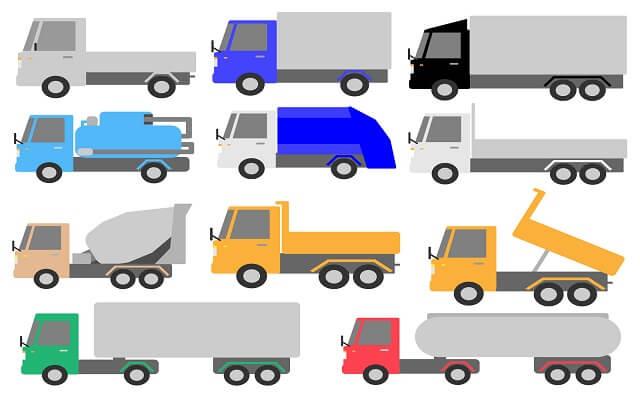 多彩なボディタイプが存在する貨物自動車のトラック