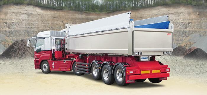 フラッツモール型アルミダンプトレーラ…ザ・トラック