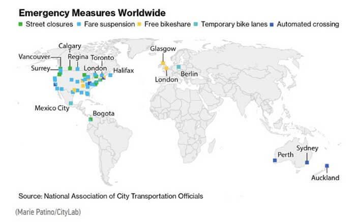 【図5-1.都市の緊急対応施策―世界(4月3日現在)】...ザ・トラック