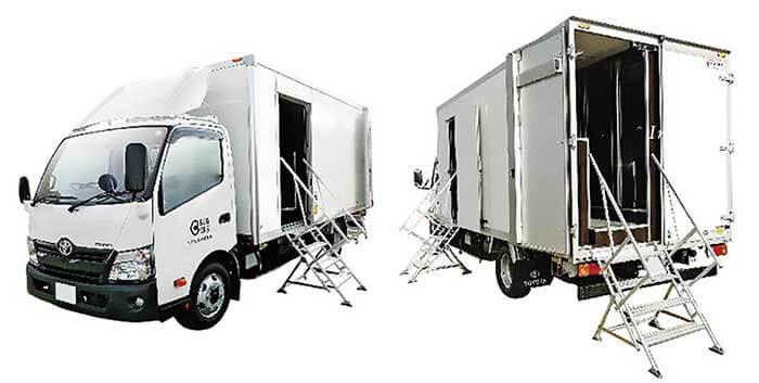 7室のトイレを搭載した「7ブーストイレカー」...ザ・トラック