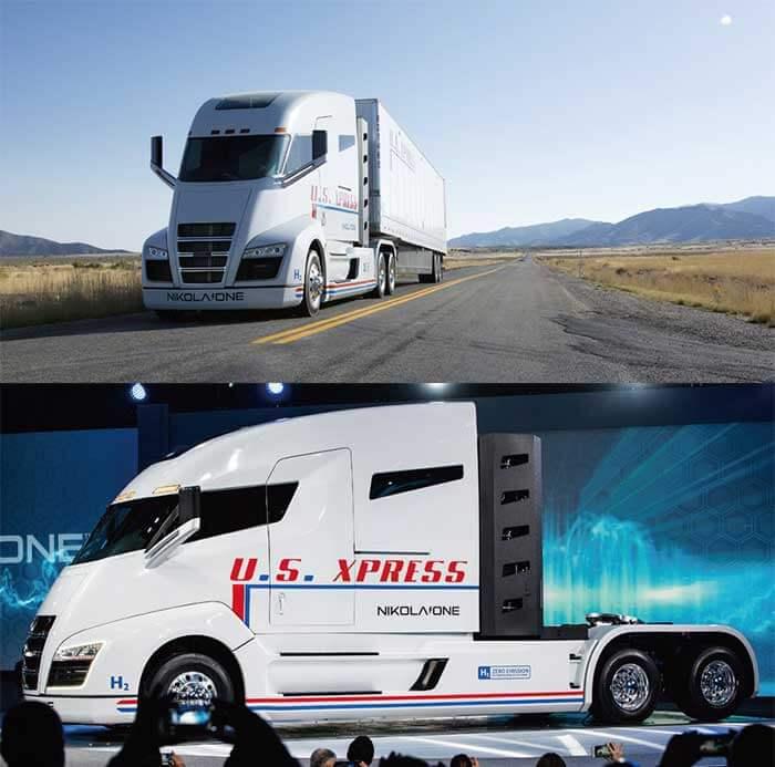 Nikola Oneはニコラトラックの旗艦車。ドアが側面中央部にある、欧州車にも見られない特徴あるキャブオーバー型デザインはアメリカでは特に斬新に映る。大陸横断のような長距離運行に耐える航続距離(レンジ)があり、キャブ後部にフルサイズベッドを二段に作り込んだ居住区もある。予約受付中...ザ・トラック