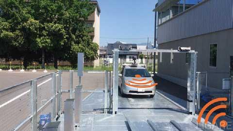 ② 機械式駐車装置から駐車許可の信号を自動運転車に送信...ザ・トラック