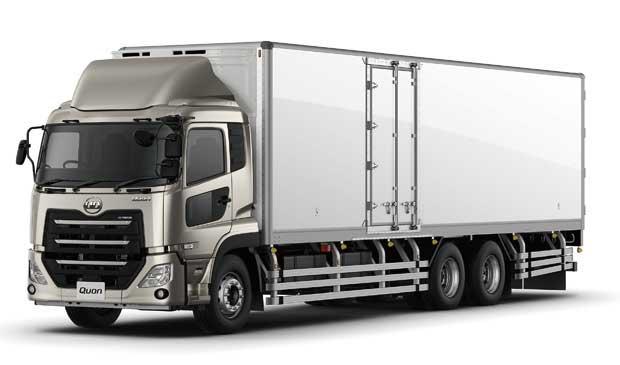 Quon冷凍車などのカーゴ高積載仕様車では500~700㎏の積載量向上を実現させている...ザ・トラック