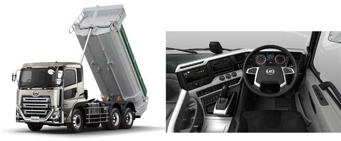 新たにテレスコ式リアダンプが設定された10トン以上の積載が可能な高積載仕様ダンプ車...ザ・トラック