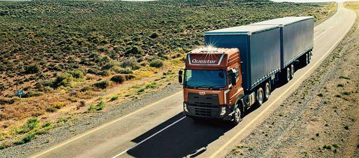 新興国市場向け大型トラック「クエスター(Quester)」に電子制御式トランスミッション「ESCOT」と最新のテレマティクスが搭載された...ザ・トラック