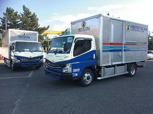名鉄運輸に納車された電気小型トラック「eCanter」...ザ・トラック