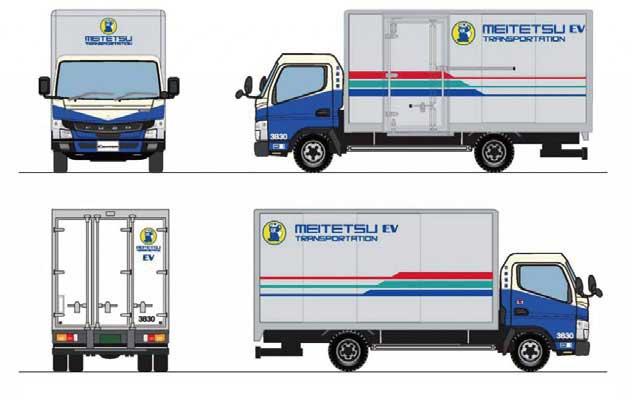 名鉄「eCanter」のデザインイメージ...ザ・トラック