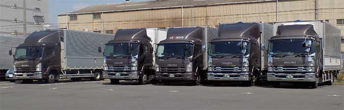 車両は大小150台以上保有。全車にデジタコを搭載している...ザ・トラック