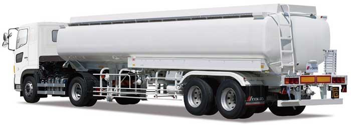極東「30kL アルミタンクトレーラ」(ダブルタイヤ仕様・KL30-47LS)...ザ・トラック