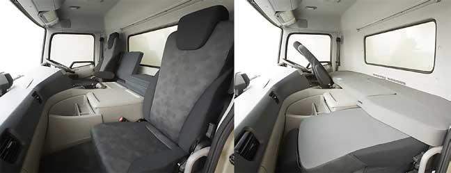 クオン・ショートキャブ車のキャビン内部...ザ・トラック
