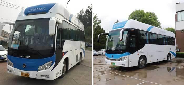 中国国内で稼働する億華通の燃料電池システムを搭載したFCバス...ザ・トラック