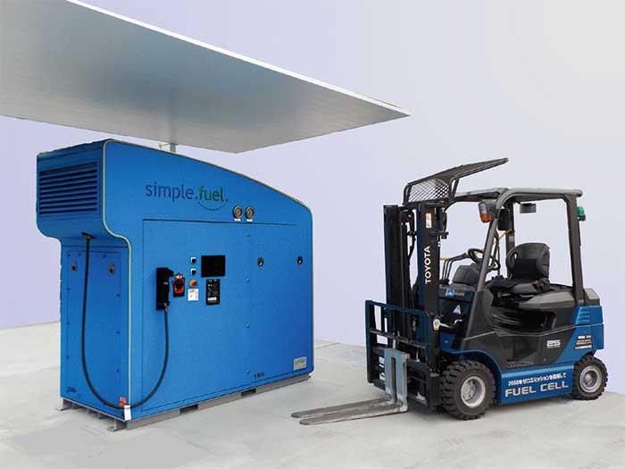 トヨタの小型水電解式水素発生充填装置「Simple Fuel」とFCフォークリフト...ザ・トラック