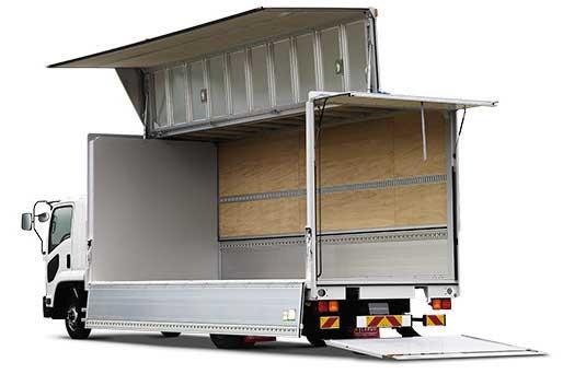 「フォワード」F-cargoウイングボディ+テールゲートリフター...ザ・トラック