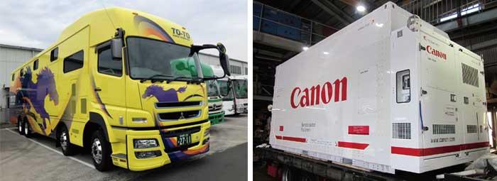 馬匹運搬車用空調装置(左) 空港コンテナ用空調装置(右)...ザ・トラック
