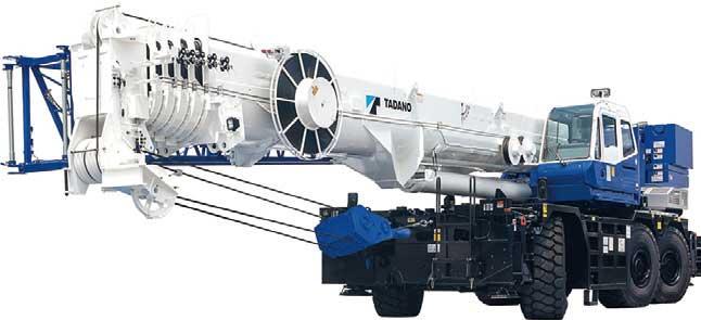 タダノが誇る世界最大級の145t吊りラフテレーンクレーン「GR-1450EX」...ザ・トラック