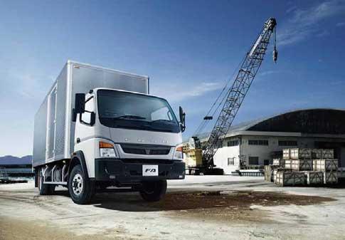 FUSOラインナップ車は20ヵ国以上の市場に投入されている(写真はFA)...ザ・トラック