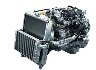 燃焼効率を最大限に高めた高性能エンジン「4P10」...ザ・トラック