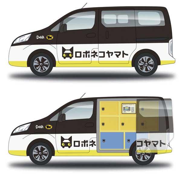 使用車両イメージ(市販車をベースに後部座席に荷物の保管ボックスを設置した専用車両を使用)...ザ・トラック