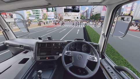 機能性重視の「スーパーグレート」の運転席...ザ・トラック