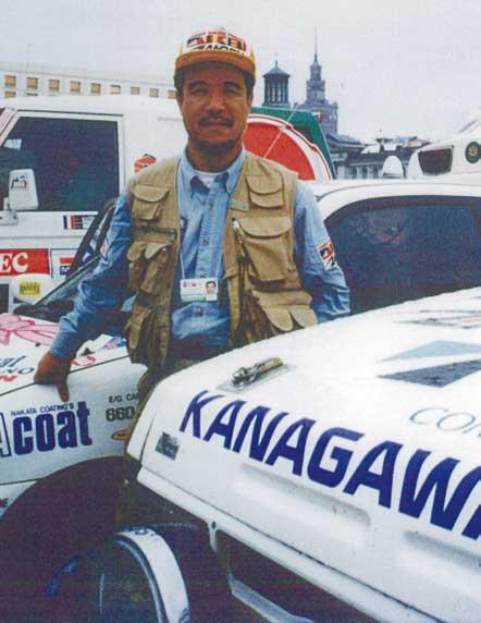 スタート前の小川会長...ザ・トラック