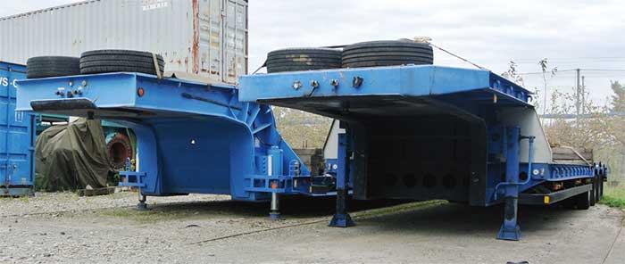 自社で使用する目的で製作した重量品用トレーラー(小川建機はメーカーとして車検証に記載されている)...ザ・トラック