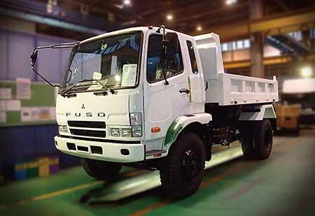 中型トラック「ファイター」のダンプ( 極東開発)...ザ・トラック