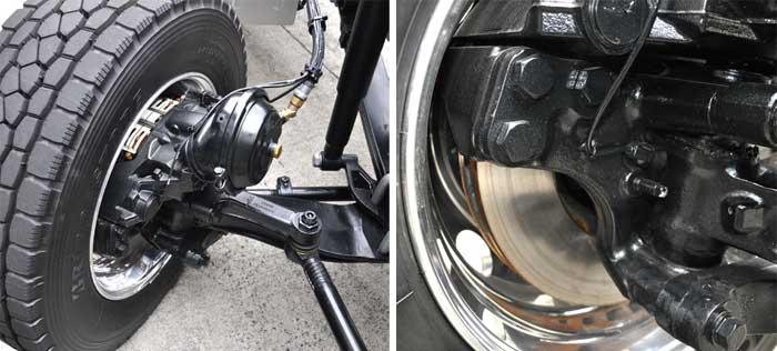 新型クオンの目玉の一つ、総輪ディスクブレーキ...ザ・トラック