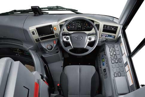 運転操作性を重視した日野セレガの運転席...ザ・トラック