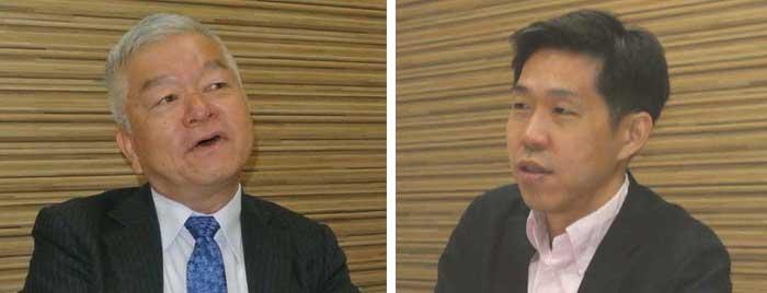 (左)石川 哲浩氏 (右)伊藤 慎介氏...ザ・トラック