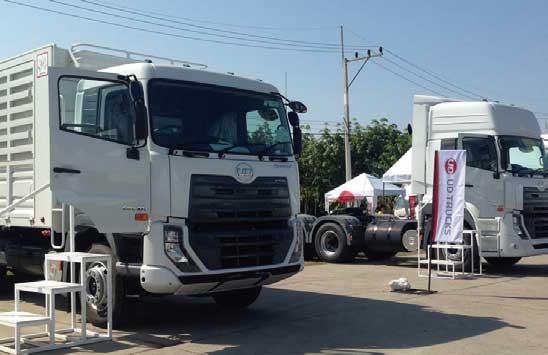 タイの展示会に出品された「クエスター」。生産はタイで行われている...ザ・トラック