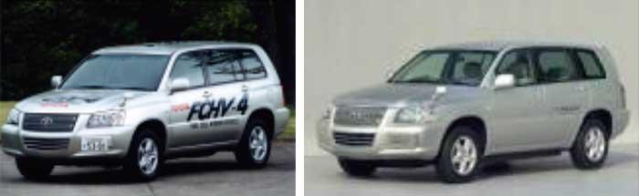 図8:FCHV-4(2001年)【左】トヨタFCHV(2002年)【右】...ザ・トラック