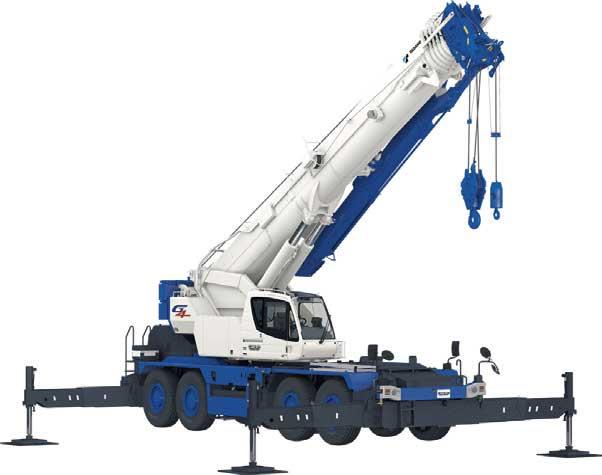 最大吊上げ荷重100トンの国内最大ラフテレーンクレーン「CREVO1000 G4」(作業姿勢)...ザ・トラック