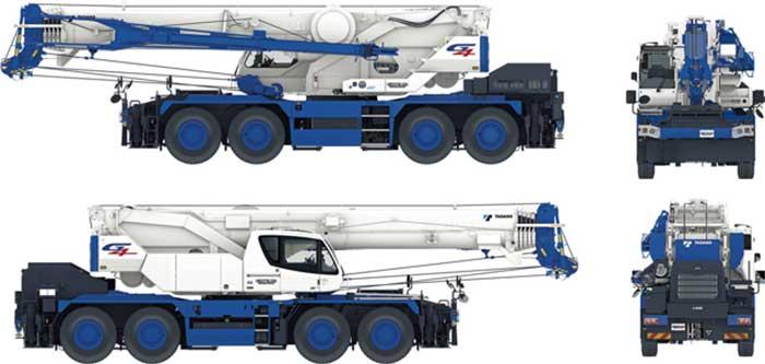 公道走行可能な国内最大のラフテレーンクレーン「CREVO1000 G4」は先進のサポート機能を搭載し走行時での安全性も高い...ザ・トラック
