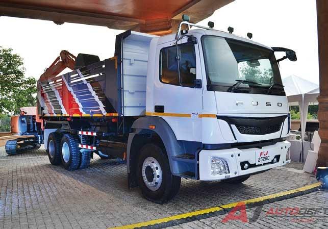 建設部門向けに2018年初めに販売を開始したタイ市場向け大型トラック「FJ 2528C」...ザ・トラック