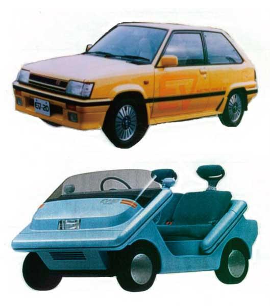 図2:EV-20(1985年)【上】 EV-30(1987年)【下】...ザ・トラック