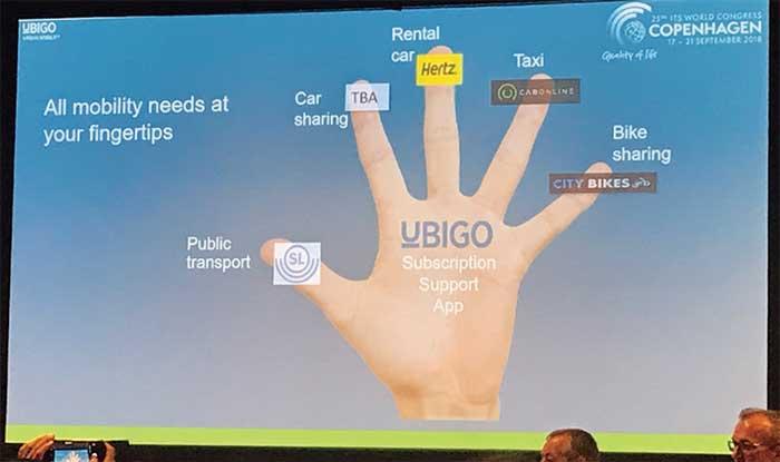 スウェーデンのUbi Go社が提供するマルチモーダルサービス(ITS世界会議での発表より)...ザ・トラック