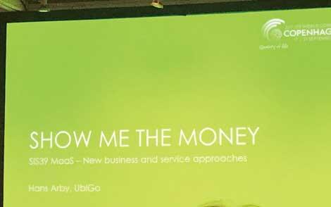 スウェーデンのUbi Go社のプレゼンテーションタイトル(ITS世界会議での発表より)...ザ・トラック