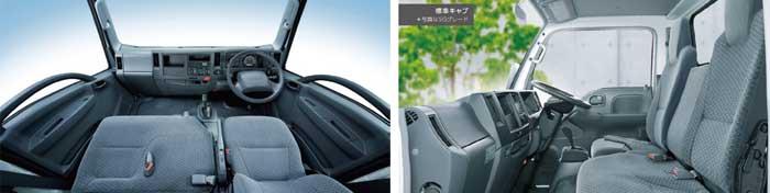 機能的なエルフの運転席はドライバーの使い勝手に優れている...ザ・トラック