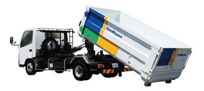 車両総重量7.5トン車対応の脱着ボデートラック「アームロール」新モデル...ザ・トラック