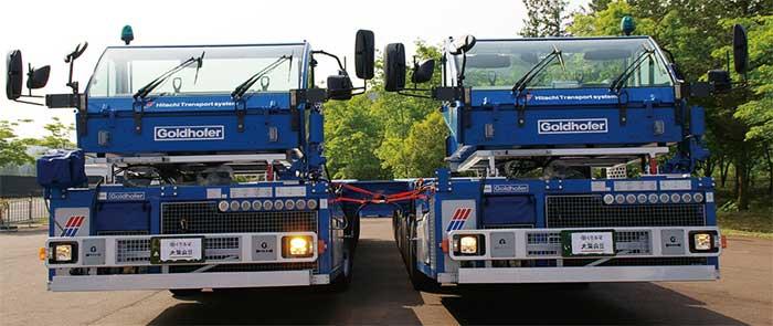 2編成を横に並べて結合させて展示された。この姿の全幅は約5.4mだ...ザ・トラック