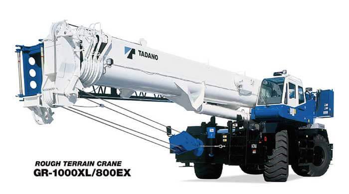 北米・中南米向けモデルのラフテレーンクレーン「GR-1000XL」...ザ・トラック