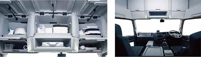 いすゞギガの運転席内部…ザ・トラック