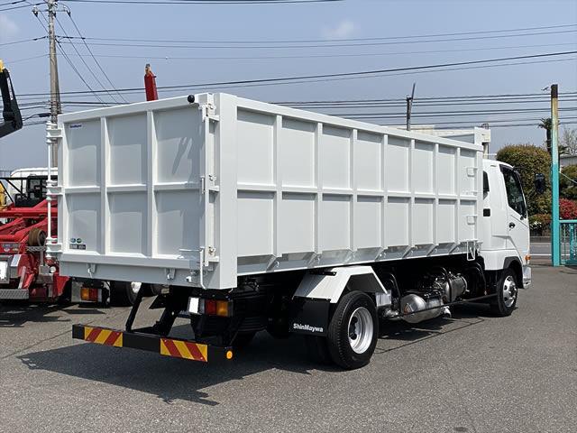 三菱 ファイター 中型 ダンプ 土砂禁 ベッド|トラック 右後画像 リトラス掲載